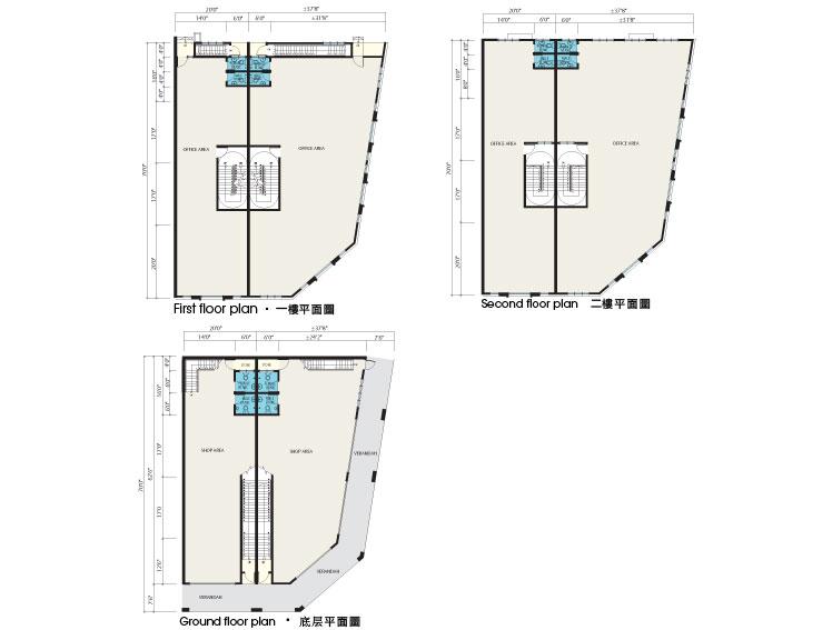 Oriental lily 3 storey commercial shop langit saujana for 3 storey commercial building floor plan